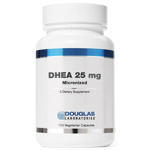 Douglas Laboratories DHEA 25 mg Micronized, 100 Vegetarian Capsules, bottle