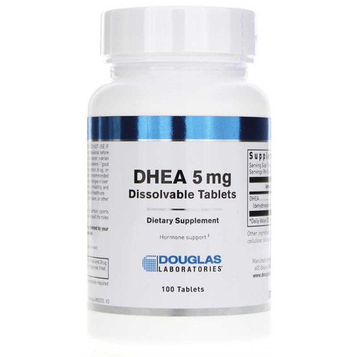 Douglas Laboratories DHEA 5 mg Dissolvable Tablets, 100 Tablets, bottle