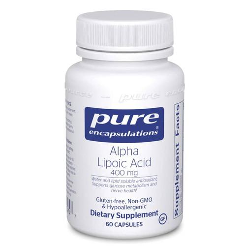 Pure Encapsulations Alpha Lipoic Acid 400 mg, 60 Capsules, bottle