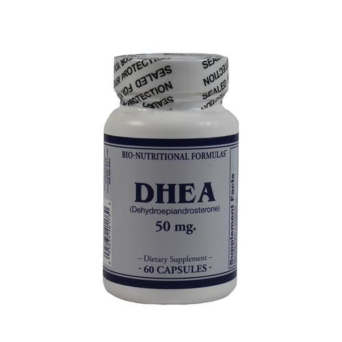Bio-Nutritional Formulas DHEA 50 mg, Dehydroepiandrosterone, 60 Capsules, bottle