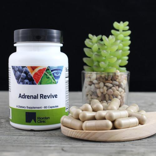 Riordan Clinic Adrenal Revive, 60 Capsules. Tan Capsules