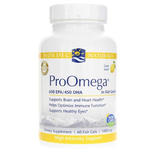 Nordic Naturals, ProOmega 1000 mg, 60 Fish Gels, bottle