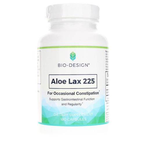 Bio-Design Aloe Lax 225, 180 Capsules, bottle