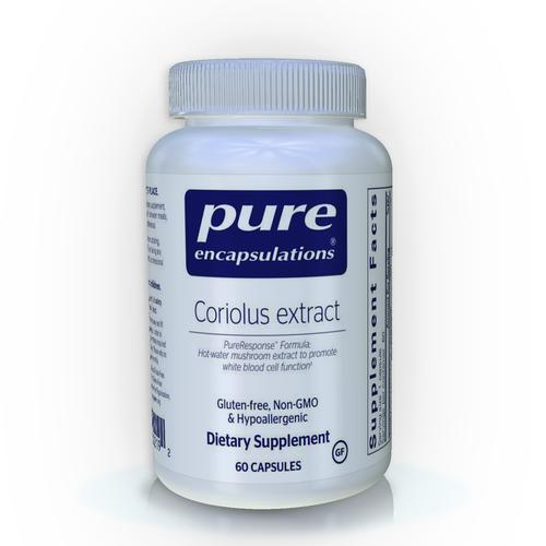Pure Encapsulations Coriolus Extract, 60 Capsules, bottle