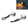 Grill Indicator Signals Harley Softail Sportster Dyna Custom Chopper Hot Rod, Chrome
