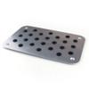 Universal Car Auto Aluminum Floor Carpet Mat Pad Plate Pedal Foot Rest