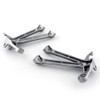Rear Passenger Footpegs Footrests Brackets Set Suzuki GSXR1000 (2007-2008) 43600-21H00, 43700-21H00, 43611-41G00, 43621-41G00