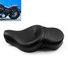 Leather Driver Passenger 1 Piece Seat Saddle Two up Harley Davidson HD XL Sportster XL883N XL1200N (2004-2018) Black