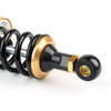 """400mm 15.74"""" Motorcycle Shock Absorber Rear Suspension Universal Fit Pair Black Gold"""