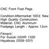 Front Rider Footrest Foot pegs Brackets Suzuki GSXR 1300 Hayabusa 2008-2015
