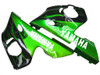 Fairings Yamaha YZF-R6 Black & Green Flame R6 Racing (1998-2002)