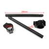54mm Clip-On Handlebars Universal Motoycycle CBR VTR GSX GSXR SV ZX Mille R6 R1, Black