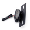 License Plate Mount Oval LED Tail Brake Running Light (Universal Fit) Black / Smoke Lens