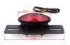 License Plate Mount Oval LED Tail Brake Running Light (Universal Fit) Black / Red Lens