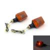 Short Stalk Indicator Turn Signal Light Blinkers Universal Fit, Amber