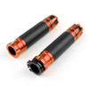 "7/8"" 22MM CNC Grips Aluminum Sport Racing Bike Handlebar Gel Grips, Orange"