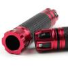"7/8"" 22MM CNC Grips Aluminum Sport Racing Bike Handlebar Gel Grips, Red"