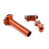 CNC Twist Throttle Moped Scooter Street Motorcycle Dirt Monkey Bike Orange