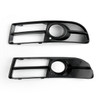 Front Lower Fog Light Grill Grille Grid Bumper Bracket for For Audi A4 B7/S4 B7/ A4 Quattro 2005-2009, Black