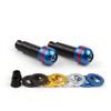 "Bar Ends Interchangeable Color Ring Handlebar 7/8"" 17MM Universal Fit Ducati Aprilia Honda Kawasaki Suzuki Yamaha BMW Triumph, Blue"