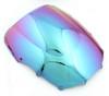 Windshield WindScreen Double Bubble For Kawasaki ZZR400 93-07 ZZR600 93-04 Iridium