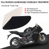 Tank Traction Pad Side Gas Knee Grip Protector Honda Kawasaki Triumph Yamaha, Black