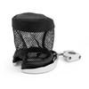 """1"""" Handlebar Cup Holder Universal Metal Drink Holder Fit Harley, Chrome"""