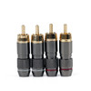 Mad Hornets 4PCS Copper RCA Plug Gold Plated Audio Video Adapter Connector
