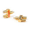 Mad Hornets 2PCS RCA Audio Y Splitter Plug Adapter 1 Male to 2 Female Gold Plated Connector