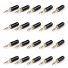Mad Hornets 20PCS Copper Gold Plated 3.5mm Male Stereo Mini Jack Plug Soldering