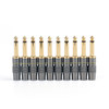 "Mad Hornets 10PCS Copper 6.3mm 1/4"" Mono Jack Plug Connector Soldering"