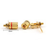 Mad Hornets 100PCS Gold Plated Binding Post Amplifier Speaker Audio Connector Terminal