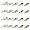 Mad Hornets 20PCS Copper Gold Plated 3.5mm Male Stereo Jack Plug Soldering Connector