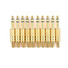 Mad Hornets 10PCS Gold Plated 6.35mm Male 1/4 Stereo Plug Audio Connector