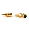 Mad Hornets 40PCS Gold Plated RCA Phono Chassis Panel Mount Female Socket