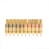 Mad Hornets 10PCS Gold Plated RCA Plug Audio Male Connector W Metal Spring