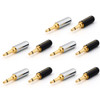 Mad Hornets 10PCS Copper Gold Plated 3.5mm Mono Mini Jack Plug Soldering Connector