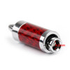 Mad Hornets 4PCS HIFI Rhodium Plated Carbon Fiber Speaker Cable Banana Terminal PLUG, Red
