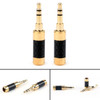 Mad Hornets 2PCS Gold Plated 3.5mm Mini Stereo Jack Plug Carbon