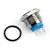 Mad Hornets 1PCS 16mm 2 Pin Normally Closed Flat Round Momentary Push Button Switch 36V/2A