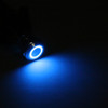 Mad Hornets 1PCS Mini 4 Pin 12mm LED Metal Push Button Momentary Switch Waterproof 12V, Blue