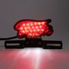 LED Brake Tail Light Running Lamp Plastic Housing For Harley Chopper Motorcycle, Red