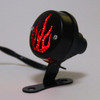 Fire Rear Taillight Brake Light Red Flame for Harley Cafe Racer Bobber, Black
