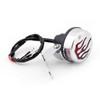 Fire Rear Taillight Brake Red Flame Light For Harley Cafe Racer Bobber, Chrome