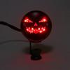 Vintage Pumpkin Red Rear Taillight Brake Stop Light For Harley Cafe Racer, Black