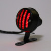 Grill Housing Red Rear Taillight Brake Stop Light For Harley Cafe Racer, Black