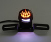 Rear Tail light Brake Light Flame Fire For Harley Cafe Racer Bobber, Chrome