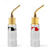Mad Hornets 1Pairs 2mm Banana Pin Plug Gold Plated Aluminum Shell Audio Speaker Adapter