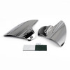 Saddle Shield Heat Deflector For Harley Touring Electra Glide & Trike, Chrome (M201-002-Chrome)
