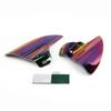 Saddle Shield Heat Deflector For Harley Touring Electra Glide & Trike, Iridium (M201-002-Iridium)